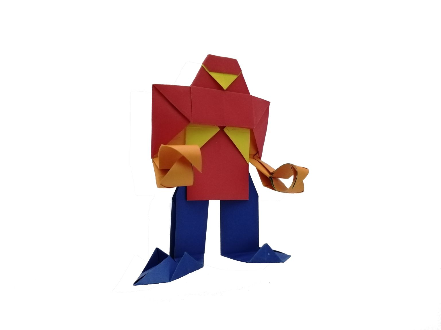 Robot fire origami